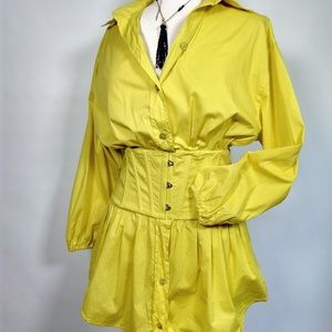 Gaultier Femme lemon corset buttondown 8